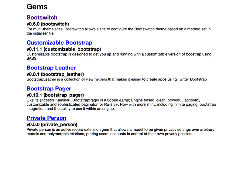 Index Page Screenshot